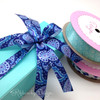 Our paisley ribbon added to this aqua box will create an interesting mix of blues for a great gift!