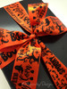 A special Halloween treat deserves our beautiful Halloween word block ribbon! What a pretty presentation, just treats, no tricks here!