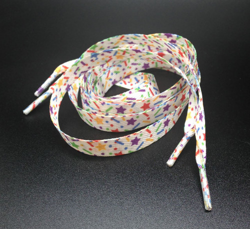 "Sprinkles shoelaces 54"" long. One Pair"