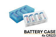 Battery Storage Case for 4 CR123 Batteries