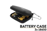 Battery Storage Case Three 18650 Batteries