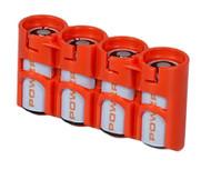 StorAcell SlimLine CR123 |CR123 Battery Holder (Orange)