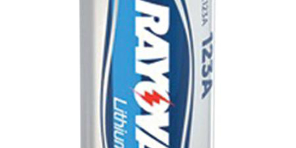 Rayovac CR123A 3v Photo Lithium Battery