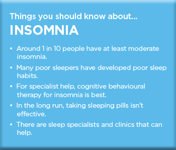 causes of insomnia This page includes the following topics and synonyms: insomnia causes,  insomnia associated conditions, organic insomnia.