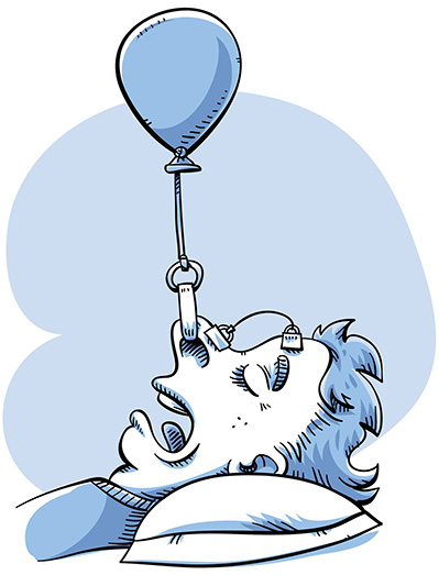 stop snoring illustration