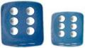 Frosted:16Mm D6 Carib Blu/Wht Block