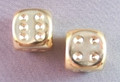 Pair Of Gold-Plated 16Mm D6 W/Pips