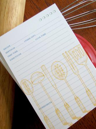 12 Utensils 4x6 Recipe Cards