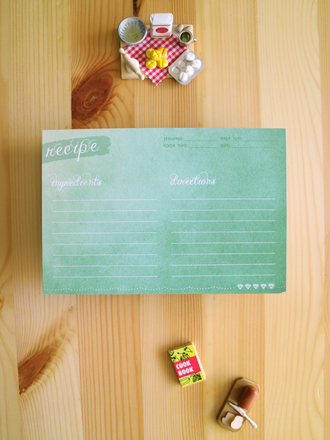 Wonderful watercolor recipe cards are beautiful and functional. Double-sided and eco-friendly too!