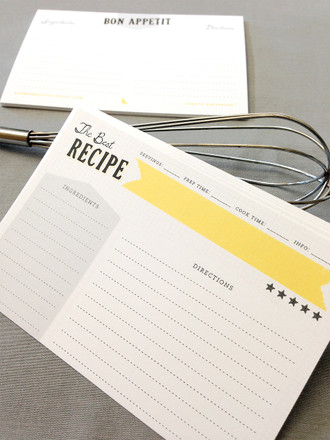 12 The Best Recipe Cards