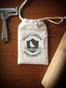 Hand-Stamped Muslin Bag