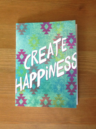 Sea Spray Create Happiness Notebook
