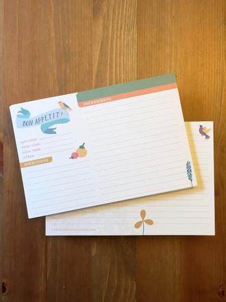 12 Primavera Recipe Cards