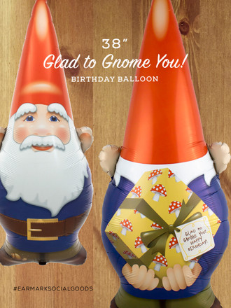"Awesome 38"" Gnome Birthday Balloon!"