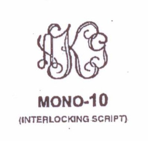 Classic Mono #10 a timeless favorite! Last initial larger, in center