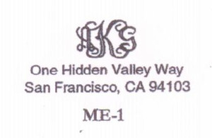 Monogram Address #1
