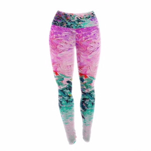 Monet Style Painting Yoga Pants/Leggings  - you can see the brush strokes!