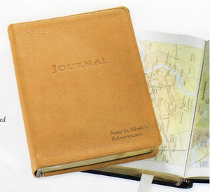 Leather Soft Cover Amelia Earhart Travel Journal - 4 x 6""