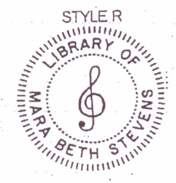 Style #R -  G-clef