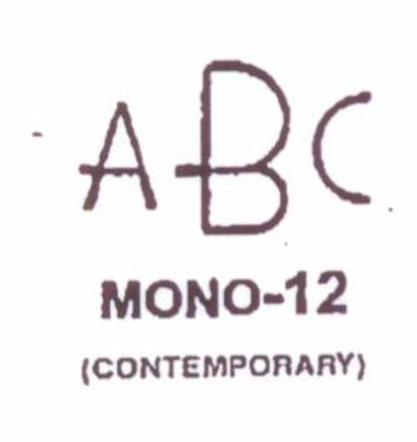 Center initial option: style Mono12
