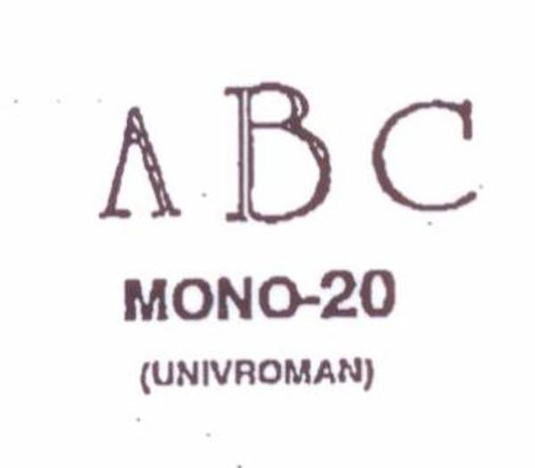 Center initial option: style Mono20