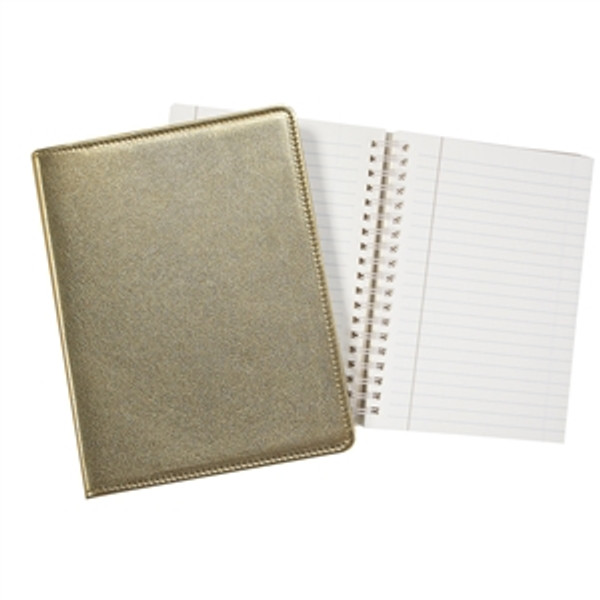 """Refillable Journal 7x9"""" Gold Leather"""