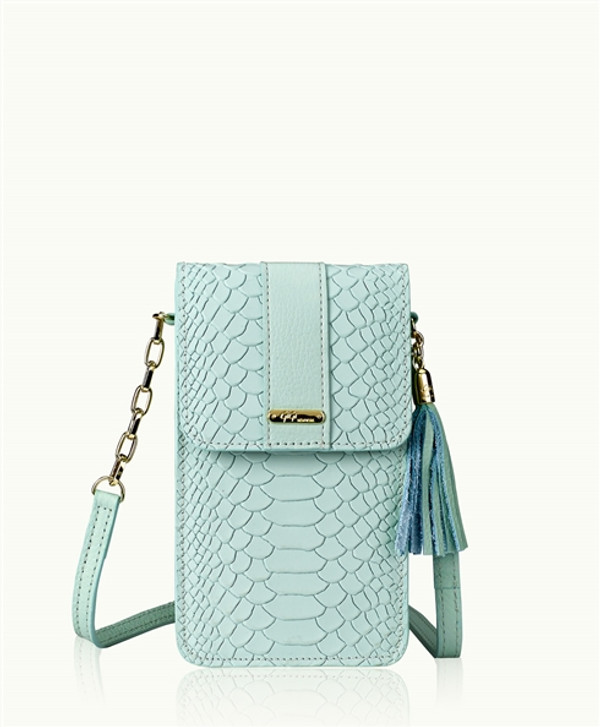 Python Leather - Sea Glass Blue