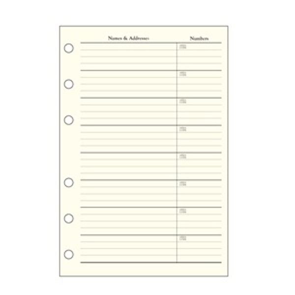 Refills Pages for Boston Hatch Shell Address Book