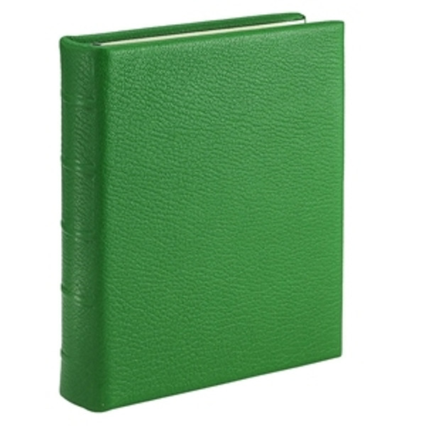 Grass Green Leather Loose-Leaf Address Book