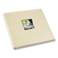 Swan Boats Wedding Album - Post-bound with window cover