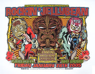 Dirty Donny Rockin Jelly Bean Farewell Dynotones, Ghastly Ones Silkscreen Concert Poster 2005 Image