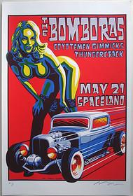 Almera Bomboras Silkscreen Concert Poster Image