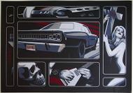 Almera Death Ride Silkscreen Art Print Image