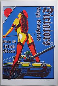 Almera Dictators Silkscreen Concert Poster Image