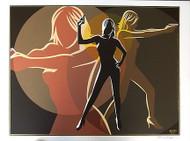 Almera Golden Signed Silkscreen Art Print Image