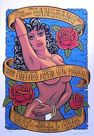 Almera Gang Bang Silkscreen Art Show Poster Image