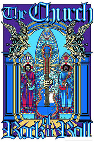 Almera Church of Rock & Roll Silkscreen Art Print Image