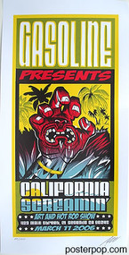Pizz California Screamin Art Show Silkscreen Poster 2006 Image
