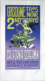 Pizz California Screamin Art Show Silkscreen Poster 2007 Image