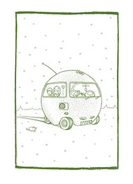 Tara McPherson Orangemobile Silkscreen Art Print Image