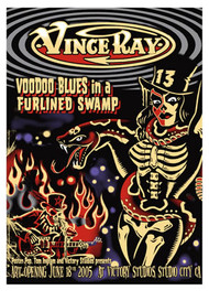 Vince Ray Voodoo Blues Art Show Silkscreen Poster 2005 Image
