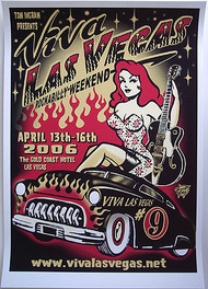 Vince Ray Viva Las Vegas #9 Silkscreen Poster 2005 Image