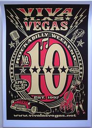 Vince Ray Viva Las Vegas #10 Silkscreen Poster 2007 Image