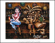 BigToe Rubies Dilemma Hand Signed Artist Print  8-1/2 x 11