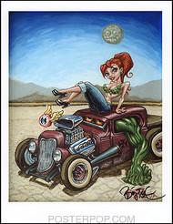 BigToe Beauty Beast Hand Signed Artist Print  8-1/2 x 11