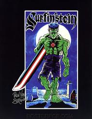 Ben Von Strawn Surfin-Stein Hand Signed Artist Print  8-1/2 x 11