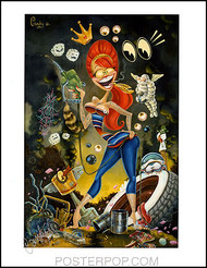 Candy Kulture Queen Hand Signed Artist Print  8-1/2 x 11