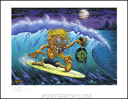 Dirty Donny SurfRot Hand Signed Artist Print  8-1/2 x 11