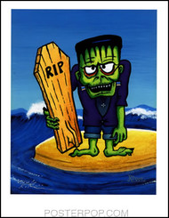 Rob Kruse Monster Surf Hand Signed Artist Print  8-1/2 x 11 Image