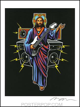 Almera Guitar Hero Hand Signed Artist Print  8-1/2 x 11 Image